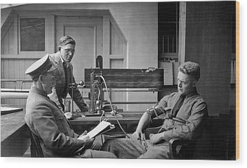 Lie Detector Test Wood Print by Underwood Archives
