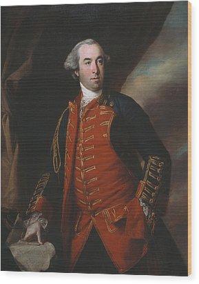 Lieutenant Colonel William Phillips 1764 Wood Print by Francis Cotes