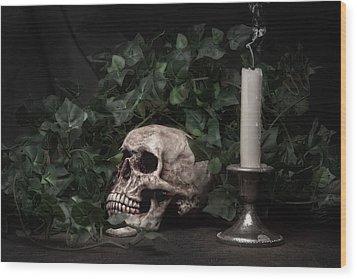 Life And Death Wood Print by Tom Mc Nemar