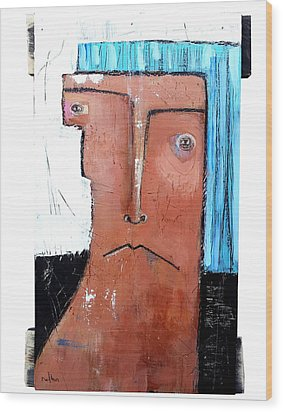 Life As Human Number Fifteen Wood Print by Mark M  Mellon