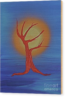 Wood Print featuring the painting Life Blood By Jrr by First Star Art