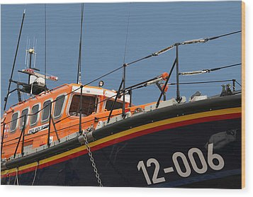 Wood Print featuring the photograph Life Boat by Christopher Rowlands