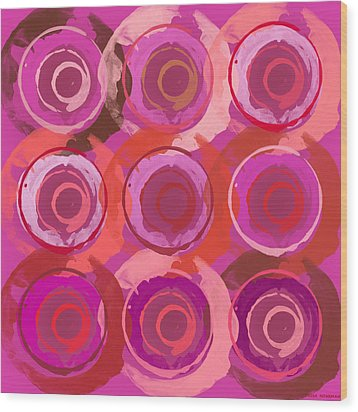 Life Circles Wood Print by Lisa Noneman