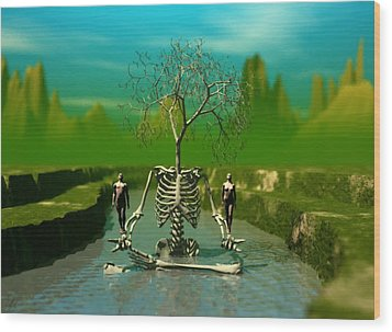 Life Death And The River Of Time Wood Print
