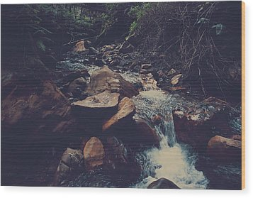 Life Flows On Wood Print by Laurie Search