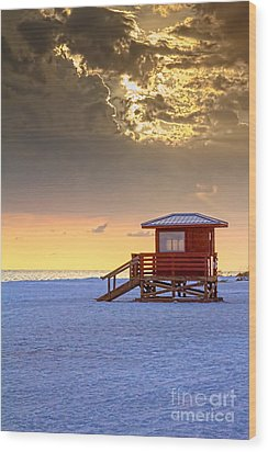Life Guard 1 Wood Print by Marvin Spates