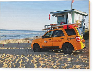 Life Guard  Wood Print by Gandz Photography