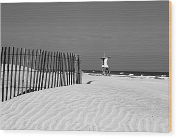 Life Guard Tower Wood Print by Denis Lemay