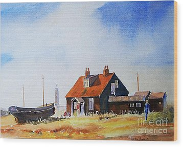 Wood Print featuring the painting Life In Dungeness by Beatrice Cloake
