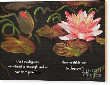 Life In Full Bloom Wood Print