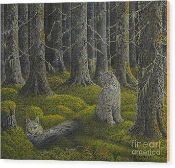 Life In The Woodland Wood Print by Veikko Suikkanen