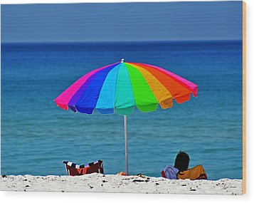 Life Is A Sunny Beach 001 Wood Print by George Bostian