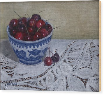 Life Is Just A Bowl Of Cherries Wood Print