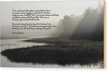 Life Lessons Wood Print by Greg DeBeck