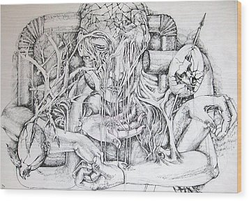Life Wood Print by Moshfegh Rakhsha