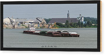 Life On The Ohio River 2 Wood Print by David Lester