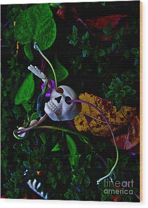 Life Through Death Wood Print by Xn Tyler