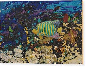 Life Underwater Wood Print by Jean Cormier