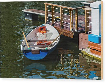 Lifeboat On Duty - Featured 3 Wood Print by Alexander Senin