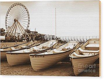 Lifeguard Boats Wood Print