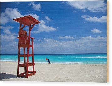 Lifeguard Chair  Wood Print