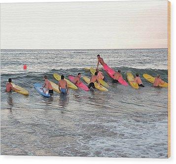 Lifeguard Competition Wood Print by Kim Bemis