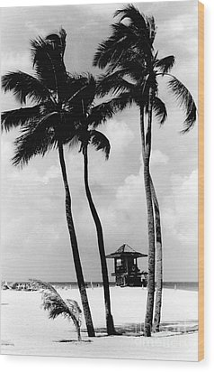 Lifeguard Hut Wood Print by Gary Gingrich Galleries