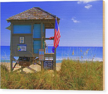 Wood Print featuring the photograph Lifeguard by Artists With Autism Inc