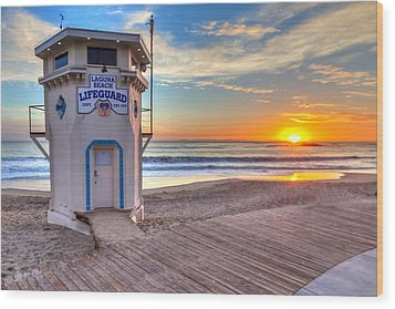 Lifeguard Tower On Main Beach Wood Print