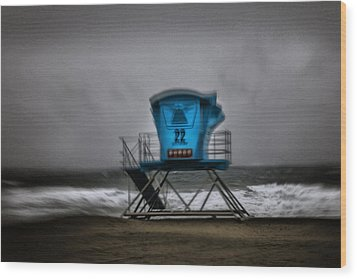 Lifeguard Tower Series - 12 Wood Print by James David Phenicie