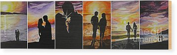 Wood Print featuring the painting Life's A Beach by Tamir Barkan