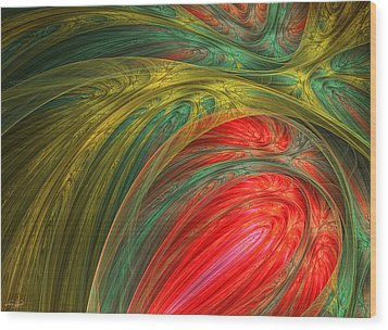 Life's Colors Wood Print by Lourry Legarde