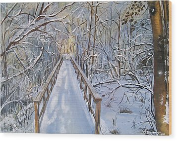Life's  Path Wood Print by Sharon Duguay