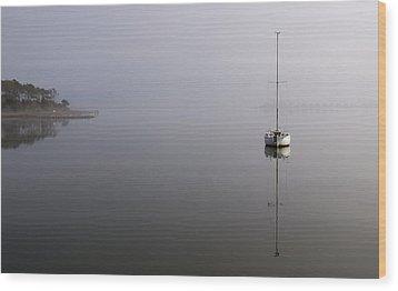 Lifting Fog Wood Print by Gregg Southard