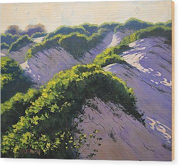 Light Across The Dunes Wood Print by Graham Gercken
