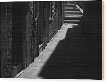 Wood Print featuring the photograph Light And Shadow - Venice by Lisa Parrish