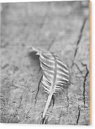 Light As A Feather Wood Print by Chastity Hoff