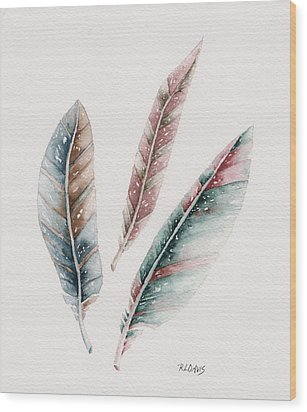 Wood Print featuring the painting Light As A Feather by Rebecca Davis