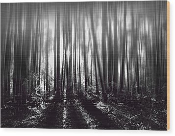 Light At The End Wood Print by Gary Smith