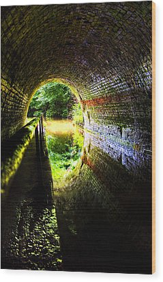 Light At The End Of The Tunnel Wood Print by Meirion Matthias