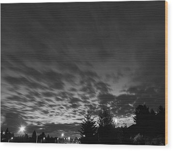Dawn Over The Highway Wood Print