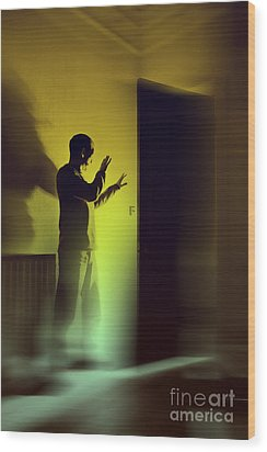 Wood Print featuring the photograph Light Behind Door by Craig B
