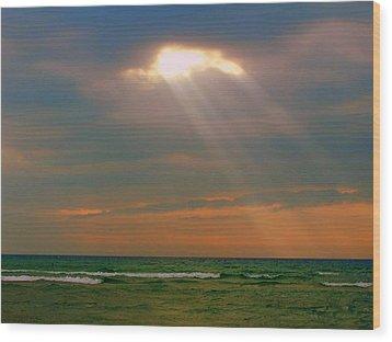 Light Breaking Through Wood Print