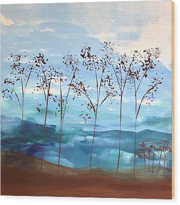 Wood Print featuring the painting Light Breeze by Linda Bailey