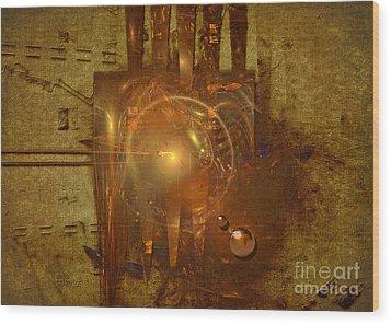 Light Clock Wood Print by Alexa Szlavics