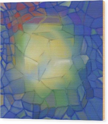 Light Cubes Away Wood Print by Constance Krejci