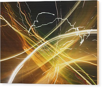 Light Curves 3 Wood Print by David Pantuso