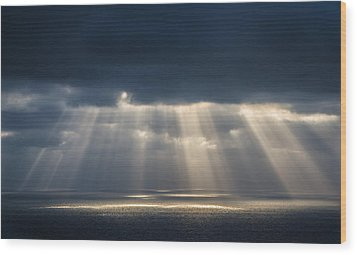 Light Dancing On Water Wood Print by Alexander Kunz