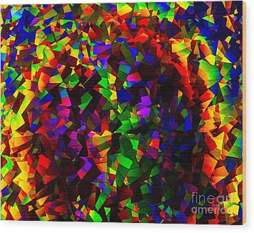 Light Emitting Diode Confetti Wood Print by Imani  Morales