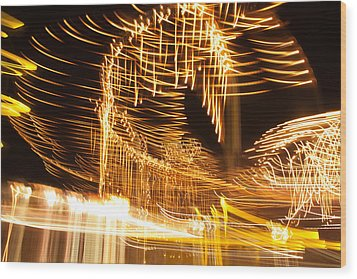 Wood Print featuring the photograph Light Fandango by Terri Harper
